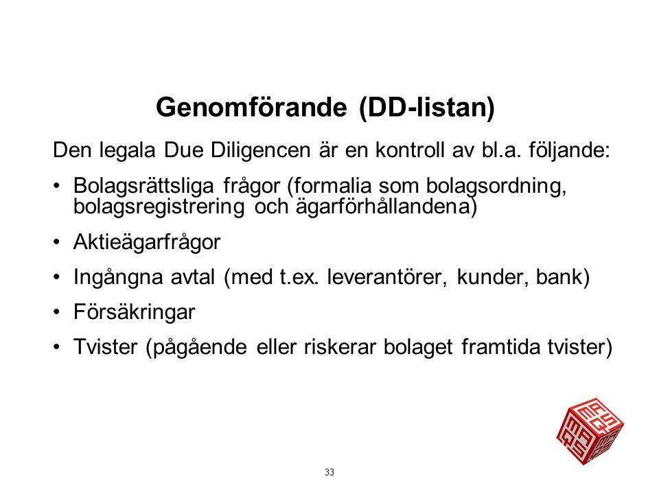 Genomförande (DD-listan)