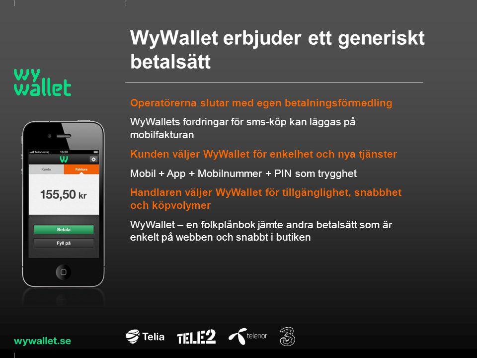 WyWallet erbjuder ett generiskt betalsätt