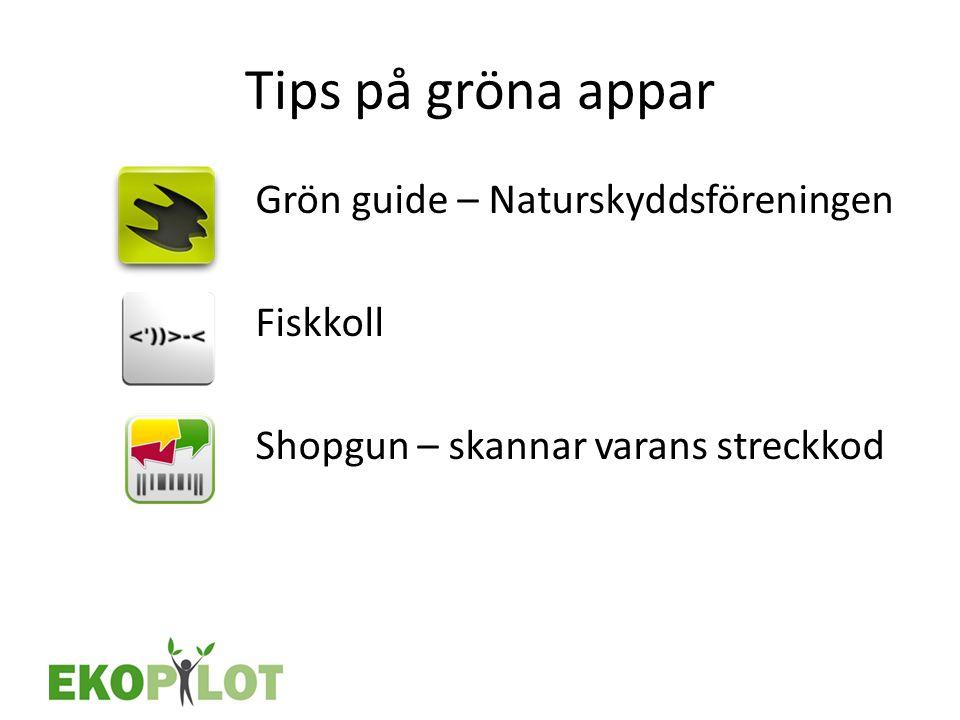 Tips på gröna appar Grön guide – Naturskyddsföreningen Fiskkoll