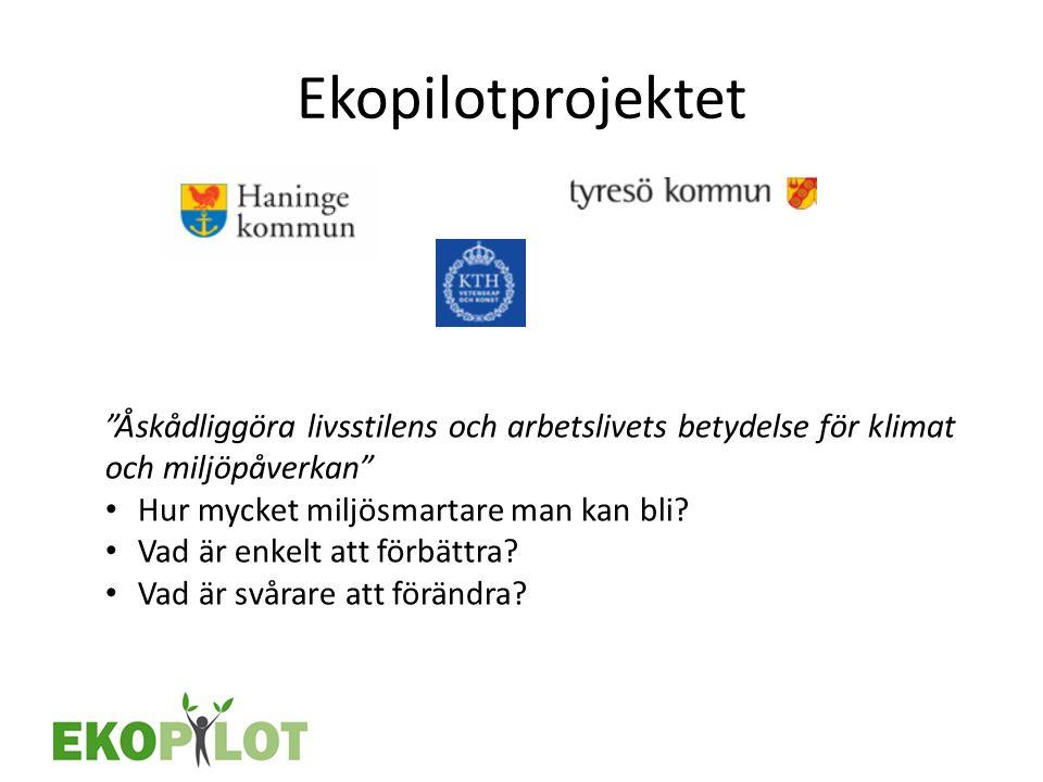 Ekopilotprojektet Åskådliggöra livsstilens och arbetslivets betydelse för klimat och miljöpåverkan