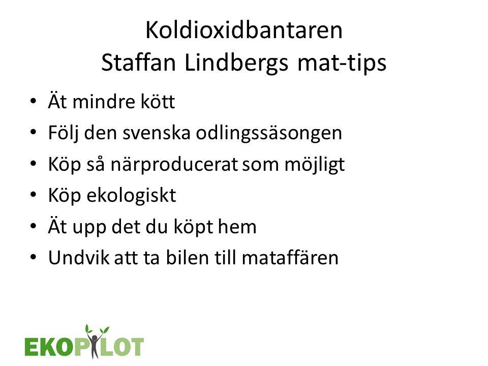 Koldioxidbantaren Staffan Lindbergs mat‐tips