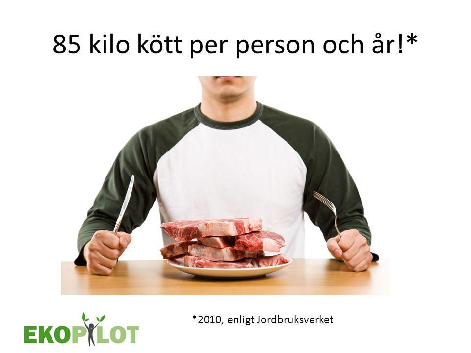 85 kilo kött per person och år!*