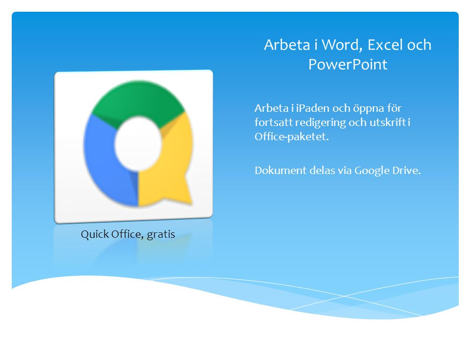 Arbeta i Word, Excel och PowerPoint
