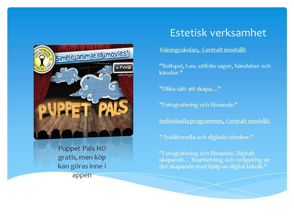 Puppet Pals HD gratis, men köp kan göras inne i appen