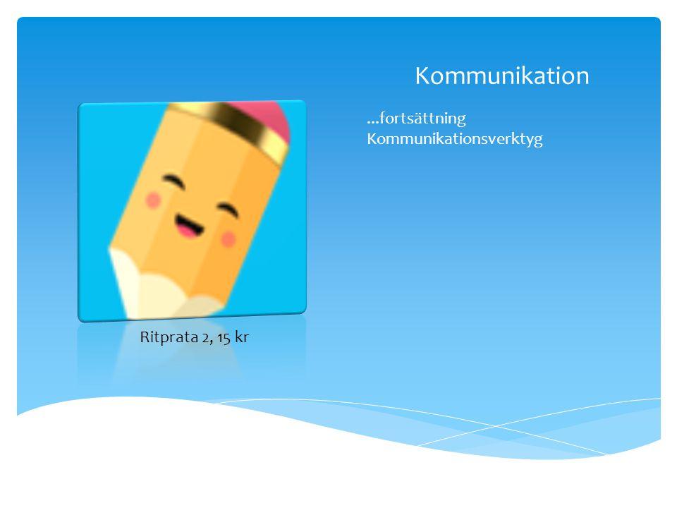 Kommunikation ...fortsättning Kommunikationsverktyg Ritprata 2, 15 kr