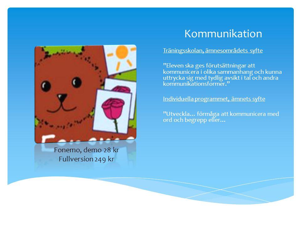 Kommunikation Fonemo, demo 28 kr Fullversion 249 kr