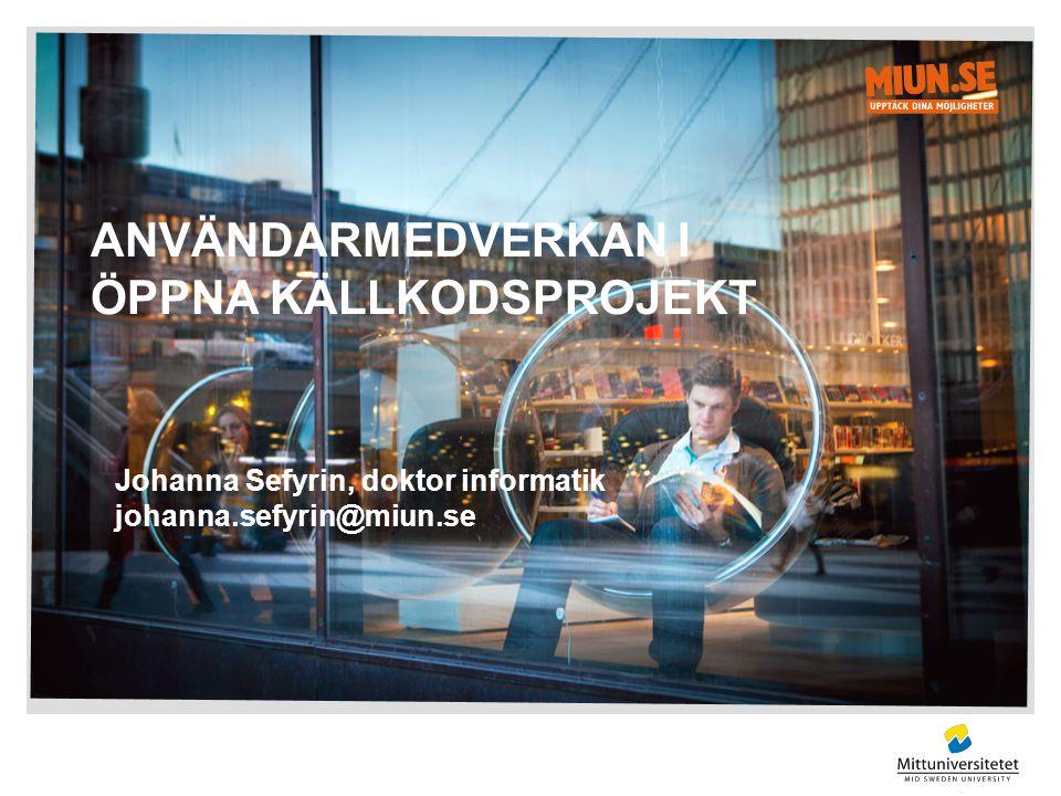 Användarmedverkan i öppna källkodsprojekt