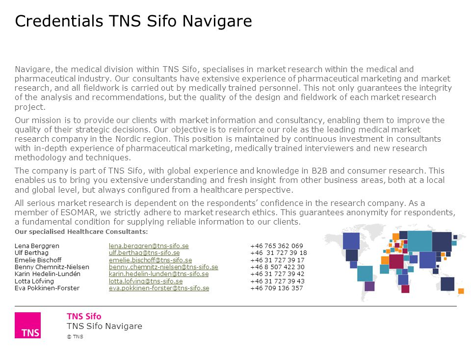 Credentials TNS Sifo Navigare