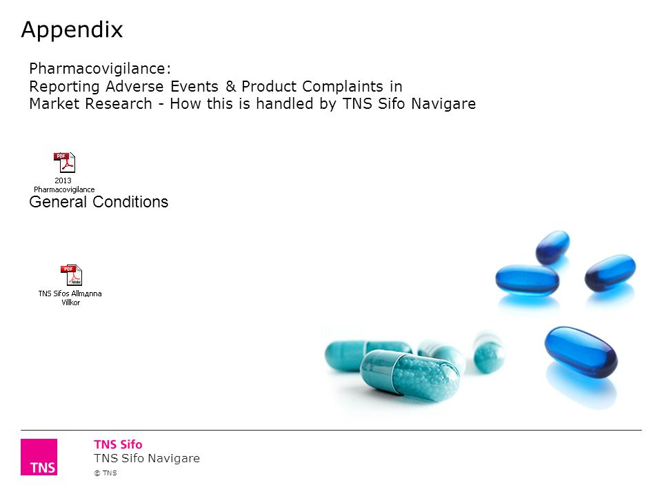 General Conditions Appendix Pharmacovigilance: