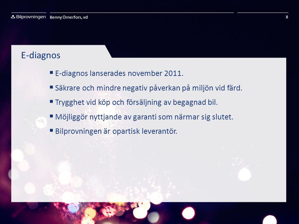 E-diagnos E-diagnos lanserades november 2011.