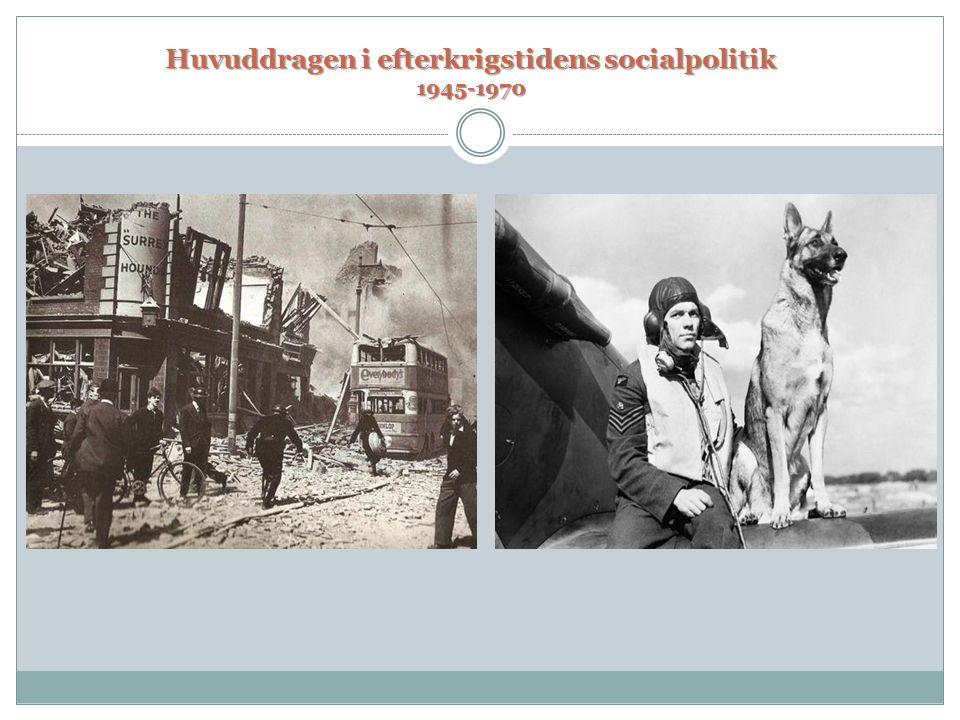 Huvuddragen i efterkrigstidens socialpolitik 1945-1970