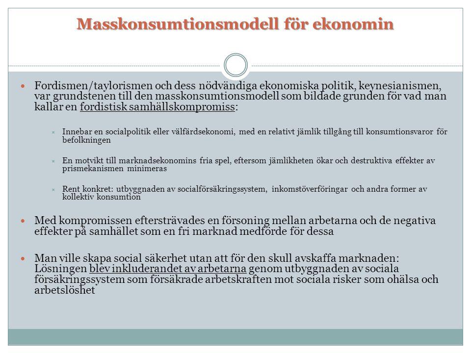 Masskonsumtionsmodell för ekonomin