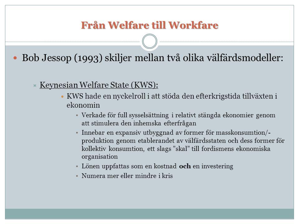 Från Welfare till Workfare