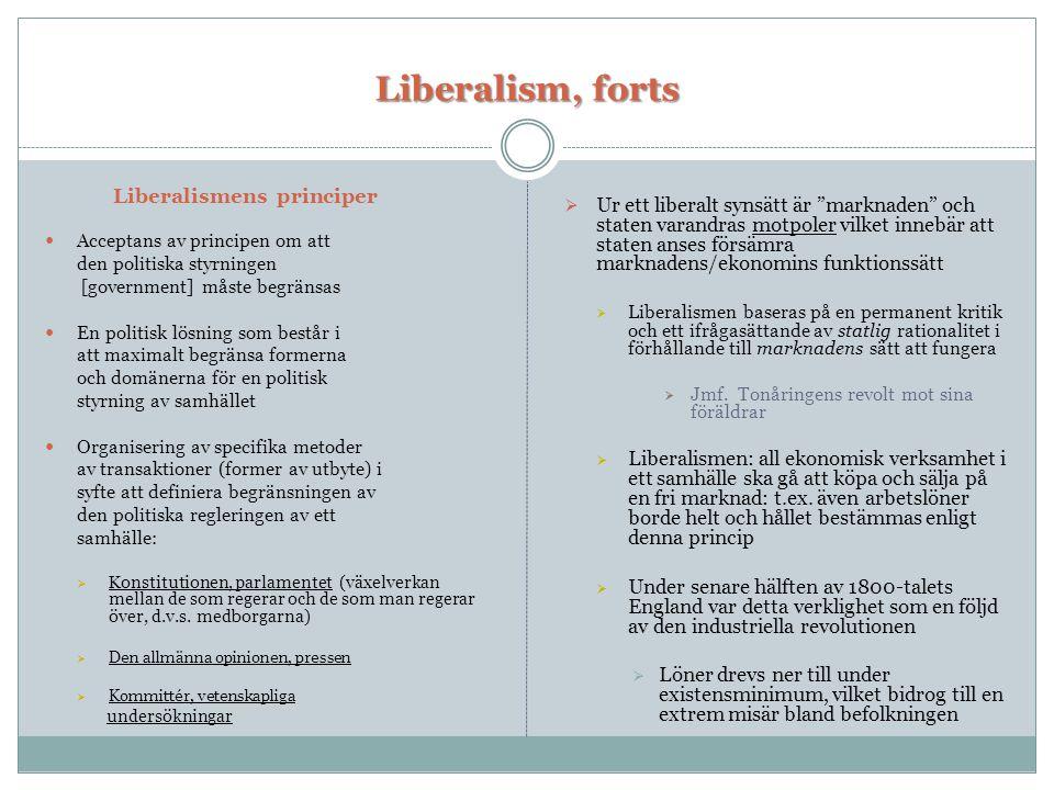 Liberalism, forts Liberalismens principer