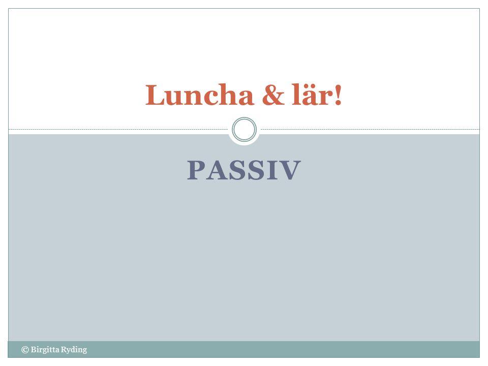 Luncha & lär! passiv © Birgitta Ryding