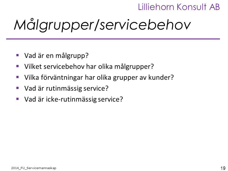 Målgrupper/servicebehov