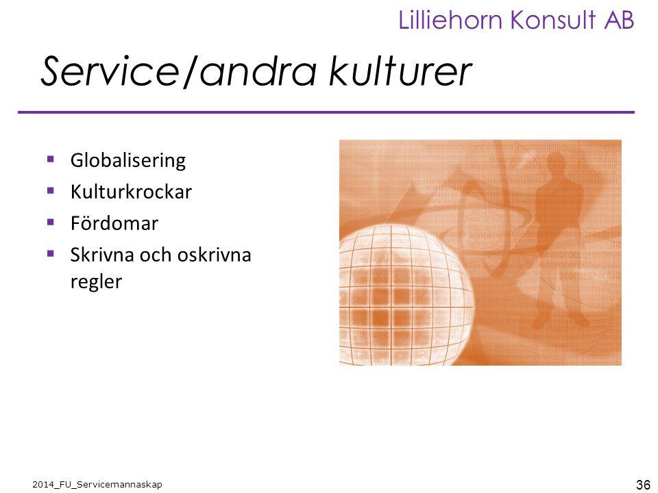 Service/andra kulturer