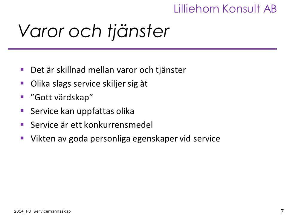 Varor och tjänster Det är skillnad mellan varor och tjänster