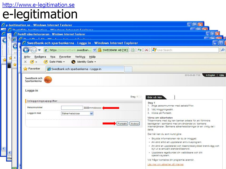http://www.e-legitimation.se e-legitimation