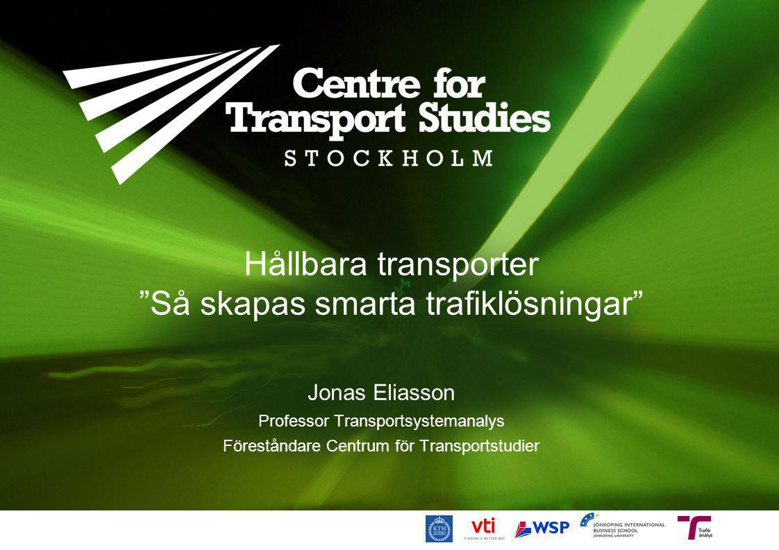 Hållbara transporter Så skapas smarta trafiklösningar