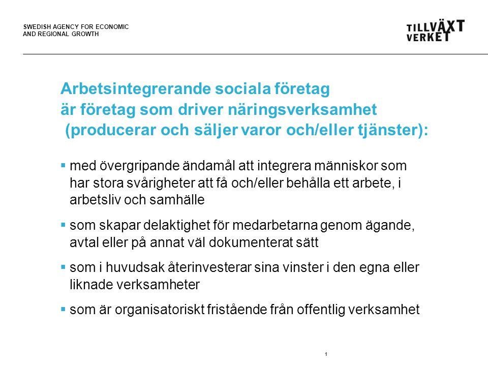 Arbetsintegrerande sociala företag är företag som driver näringsverksamhet (producerar och säljer varor och/eller tjänster):