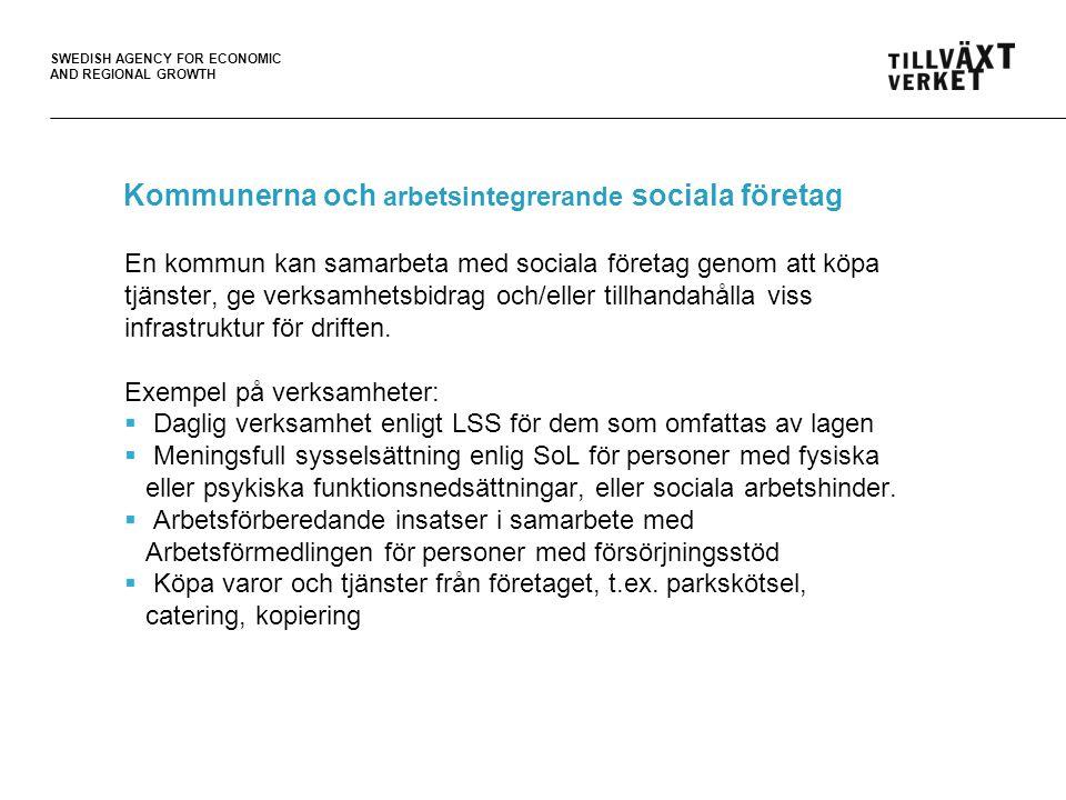 Kommunerna och arbetsintegrerande sociala företag