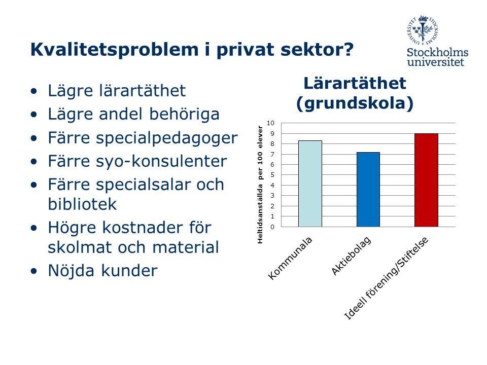 Kvalitetsproblem i privat sektor