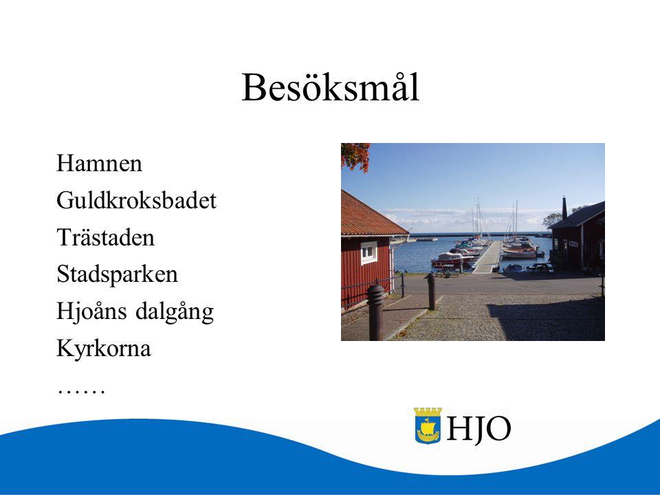 Besöksmål Hamnen Guldkroksbadet Trästaden Stadsparken Hjoåns dalgång