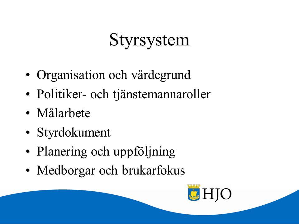 Styrsystem Organisation och värdegrund