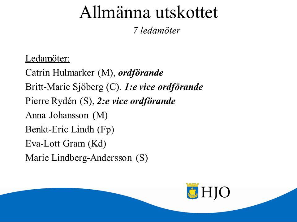 Allmänna utskottet 7 ledamöter