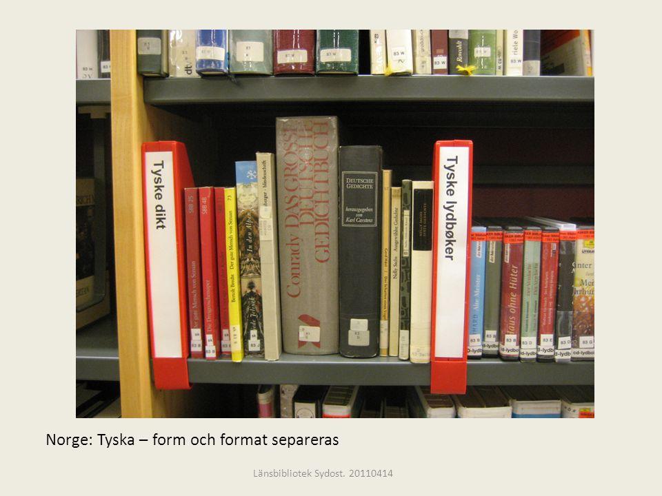 Norge: Tyska – form och format separeras