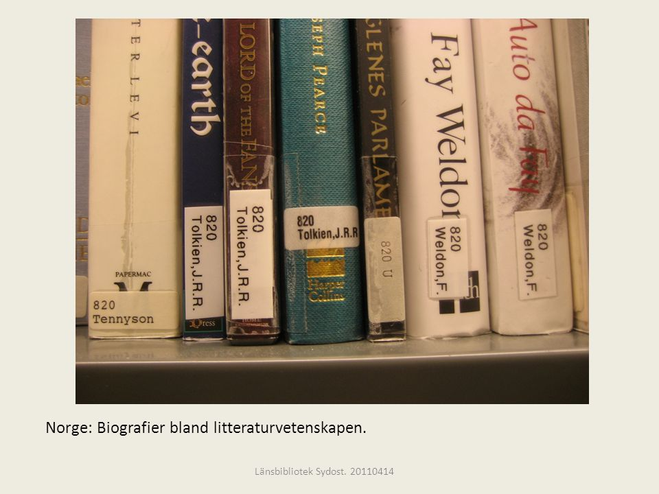Norge: Biografier bland litteraturvetenskapen.