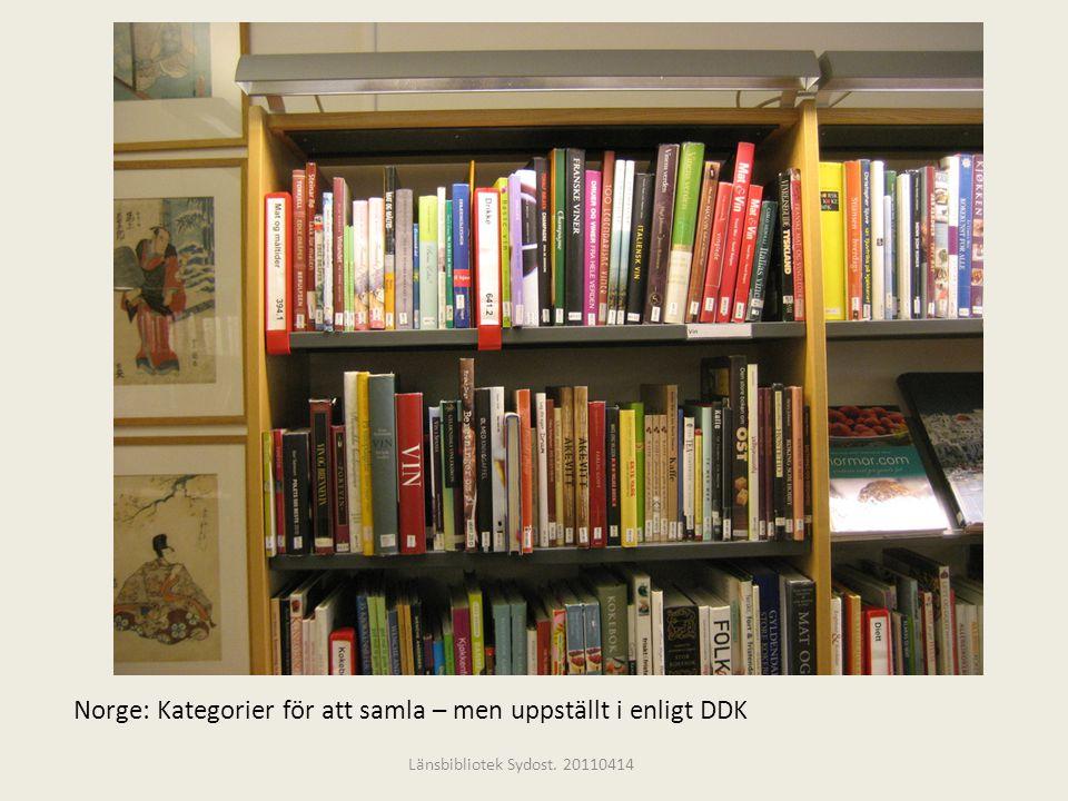 Norge: Kategorier för att samla – men uppställt i enligt DDK