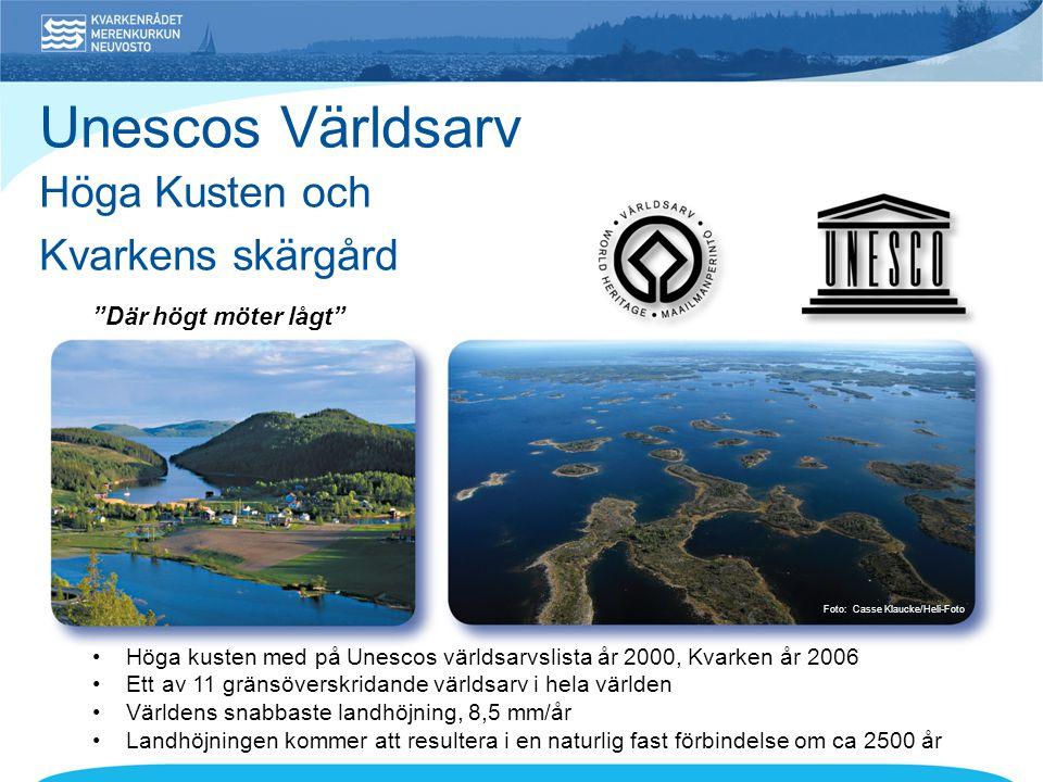 Unescos Världsarv Höga Kusten och Kvarkens skärgård