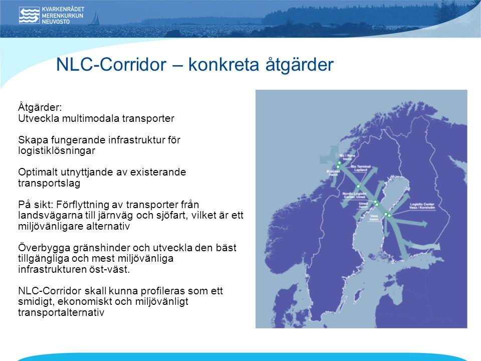 NLC-Corridor – konkreta åtgärder
