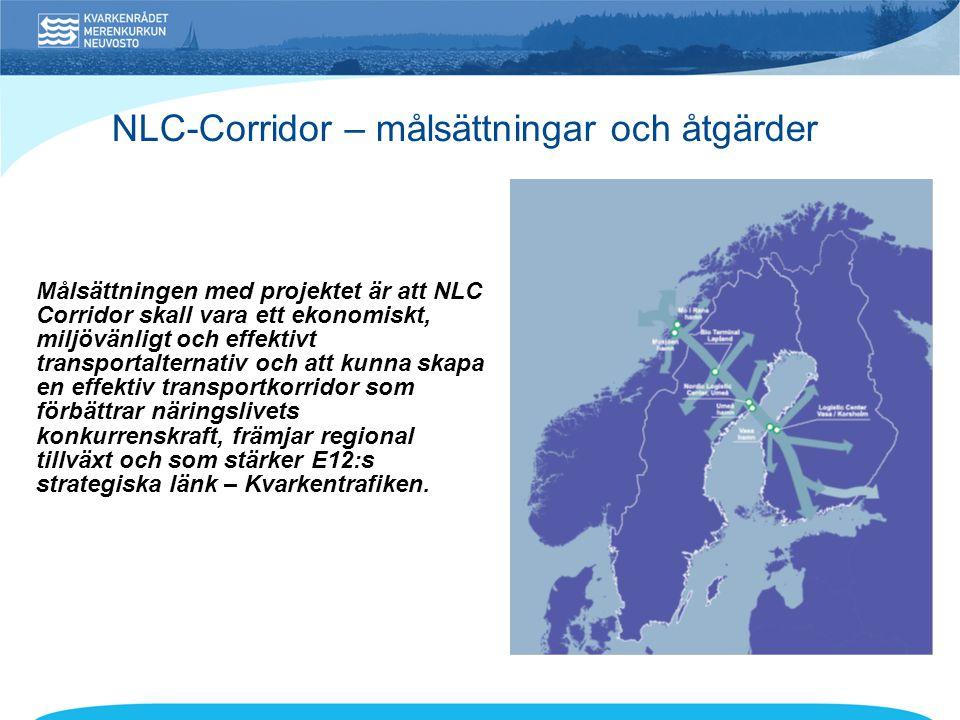 NLC-Corridor – målsättningar och åtgärder