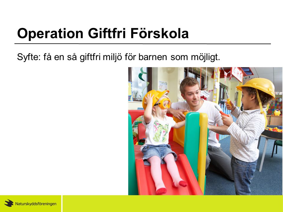 Operation Giftfri Förskola
