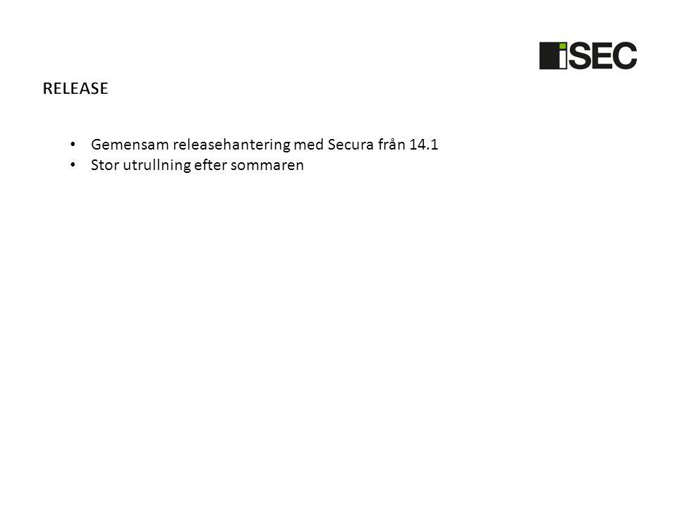 Release Gemensam releasehantering med Secura från 14.1