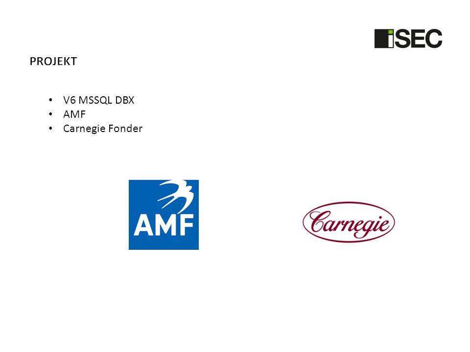 Projekt V6 MSSQL DBX AMF Carnegie Fonder