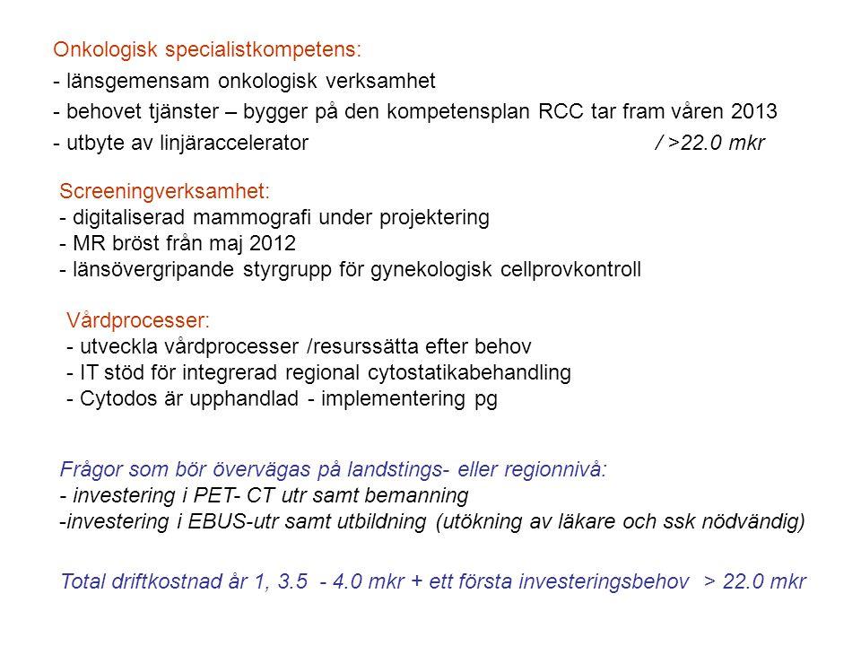 Onkologisk specialistkompetens: