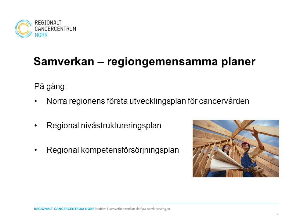 Samverkan – regiongemensamma planer