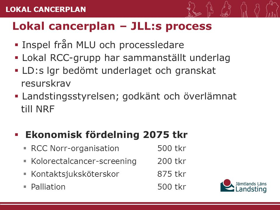 Lokal cancerplan – JLL:s process