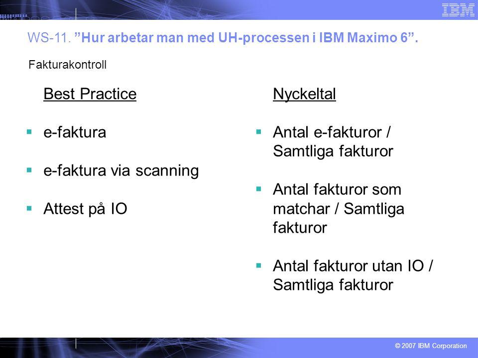 e-faktura via scanning Attest på IO Nyckeltal