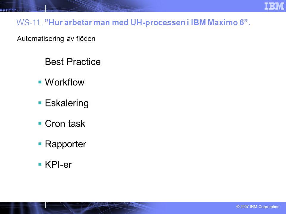 Best Practice Workflow Eskalering Cron task Rapporter KPI-er