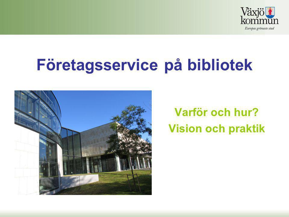 Företagsservice på bibliotek