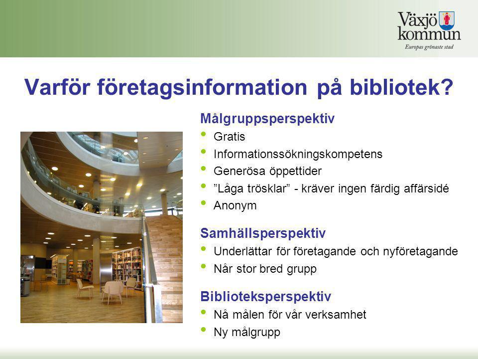 Varför företagsinformation på bibliotek