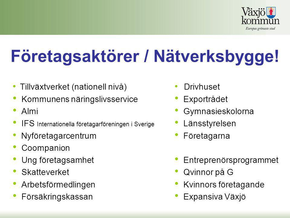 Företagsaktörer / Nätverksbygge!