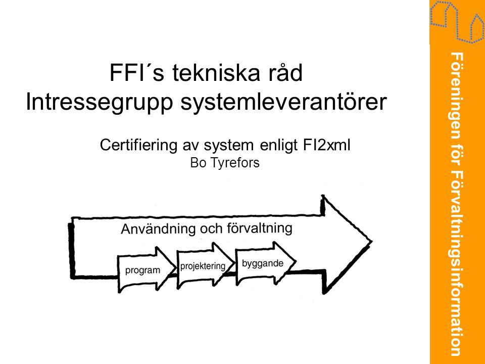 FFI´s tekniska råd Intressegrupp systemleverantörer