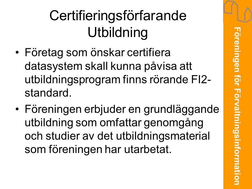 Certifieringsförfarande Utbildning