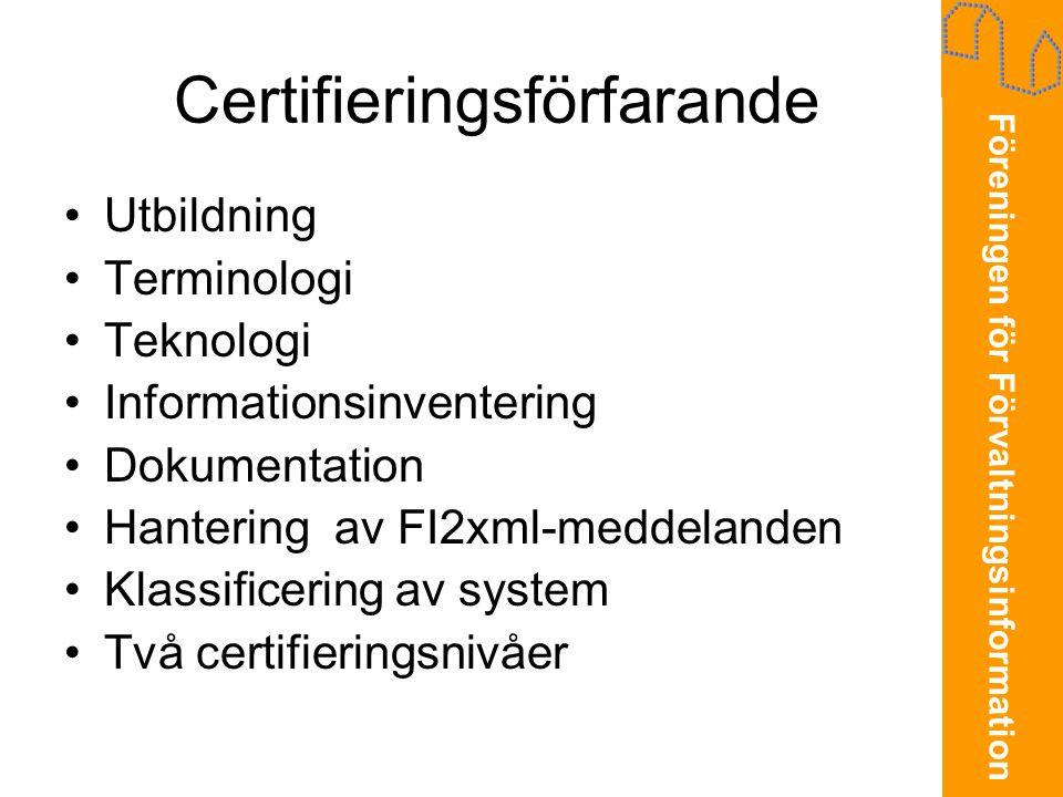 Certifieringsförfarande